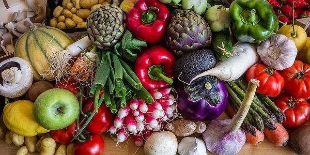 Зелень с овощями
