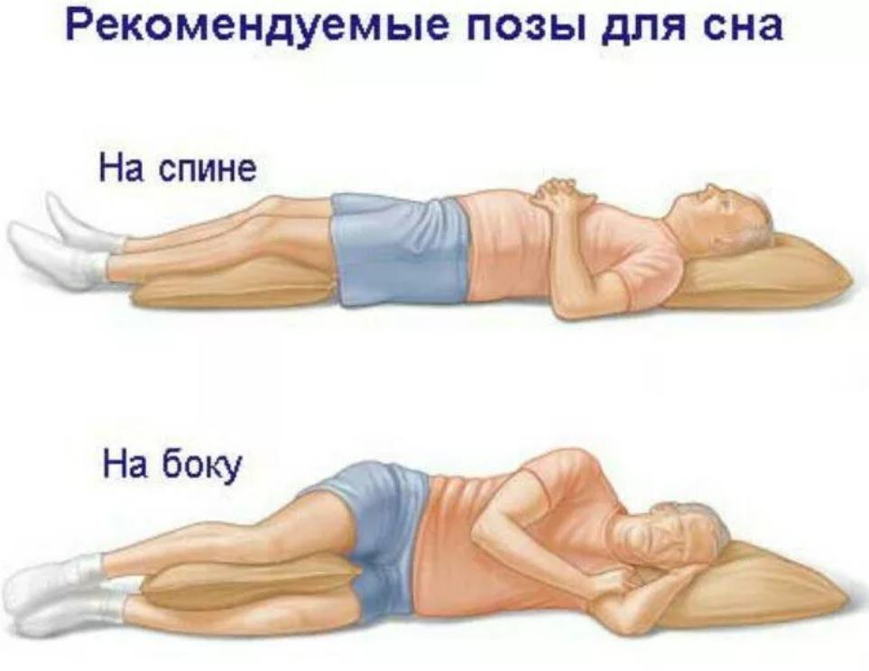 Сон на спине и боку
